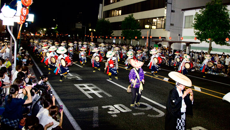 Sansa Odori Festival has preserved the traditional dance since its founding