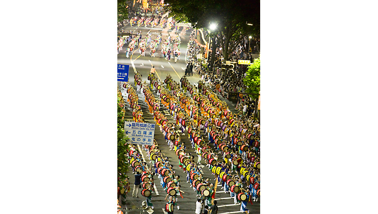 The largest and best taiko parade in the world shakes the town.